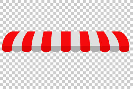 Canopy, Red and White, at Transparent Background