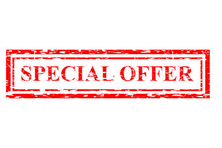 Red Rubber Stamp Effect : Special Offer Stock Photo