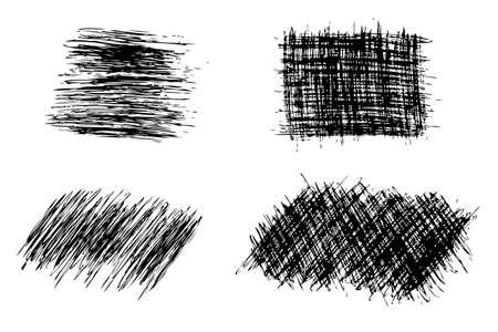 various shape of streak with black pen