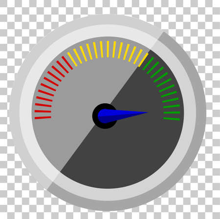 simple shinning speedometer at transparent effect background Stock Photo