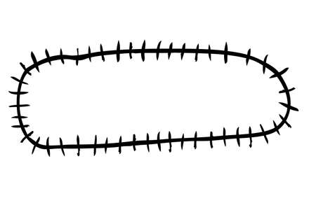 Hand Draw sketch of oval Barbed Wire Reklamní fotografie - 98519003
