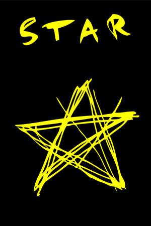 Hand Draw Sketch of Yellow Star