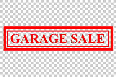 Vector Rubber Stamp Effect : Garage Sale, at Transparent Effect Background
