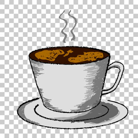 Sketchy Cup of Hot Drink, at Transparent Effect Background