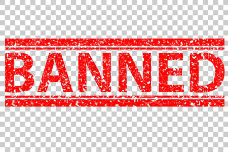 Rubber Stamp, Banned, at Transparent Effect Background
