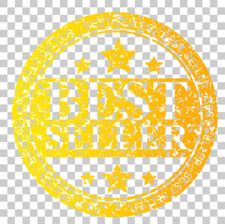 yellow circle Rubber Stamp - Best Seller at Transparent Effect Background Stock Photo