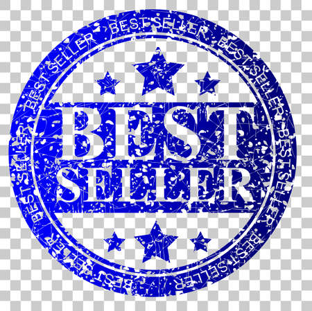 blue Circle Rubber Stamp - Best Seller at Transparent Effect Background