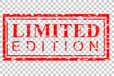 Rubber Stamp Effect : Limited Edition, at Transparent Effect Background Foto de archivo