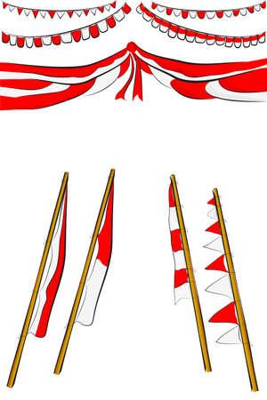 Element Design for Indonesia Independent Day Festival or Celebration