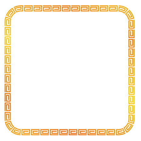 Seamless Golden Square Frame for Certificate, Placard Go Xi Fat Cai, Imlek Moment or other China Related