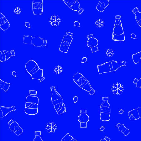 Seamless Doodle of Soft Drink Bottles