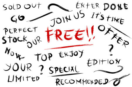 Sketch Big Marker Text for Offering / Promotion Invitation Something for your element design Stock Photo