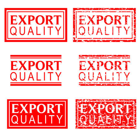 red rubber stamp effect, export quality Stock Photo