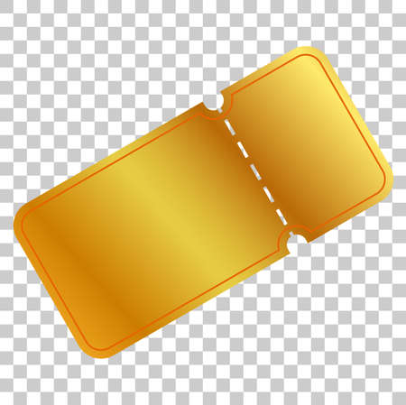 golden ticket or coupon at transparent effect background Stock Photo
