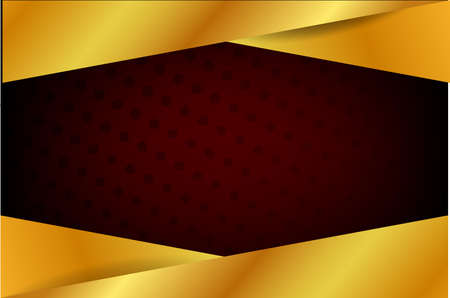 vector template blank banner gold black and red