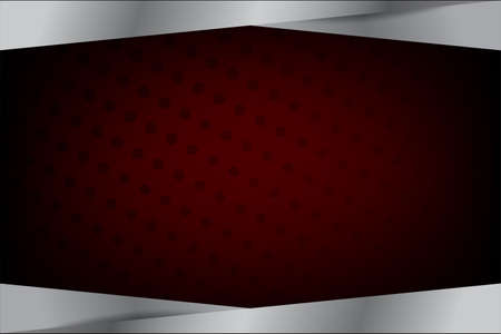 vector template blank banner chrome or silver black and red