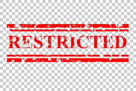 vector red rubber stamp effect restricted