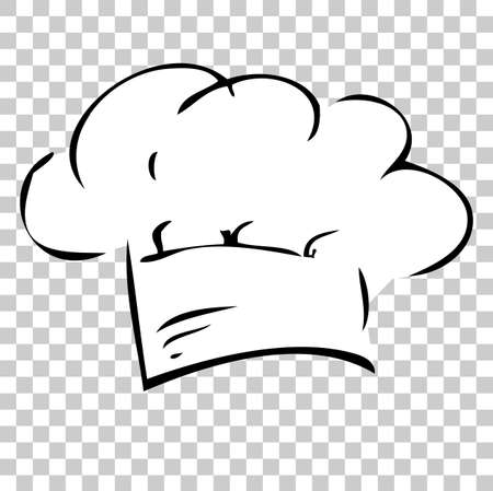 Hand Draw Sketch of Chef Hat, at Transparent Effect Background
