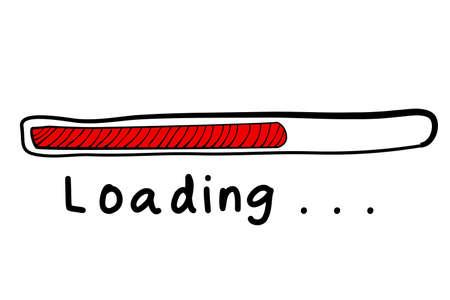 sketchy loading sign vector illustration