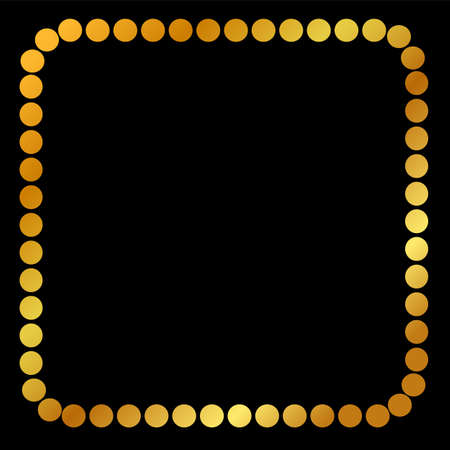 Square Golden dot Frame, for Certificate, Placard Go Xi Fat Cai Moment or other China Related at black background Stock Photo