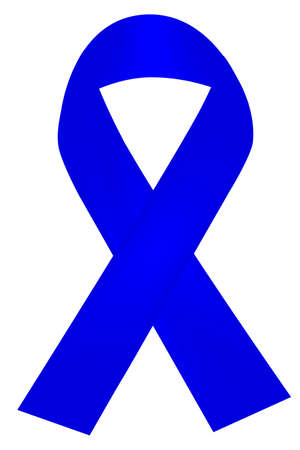 Simple Shinning Blue Ribbon