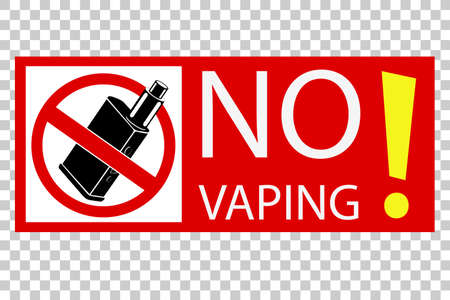 simple sign no vaping, at transparent effect background