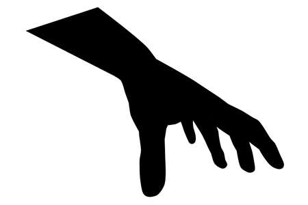 silhouette of hand pick or grab something Stock Photo