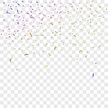 Various Color Confetti for New Year Event or celebration something element design, at Transparent Effect Background Banco de Imagens