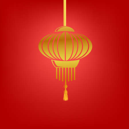 Simple Icon Chinese lantern at transparent effect background  Stock Photo