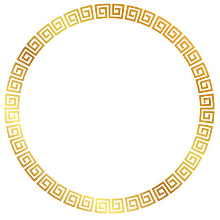Vector Golden Circle Frame for Certificate, Placard Go Xi Fat Cai, Imlek Moment or other China Related