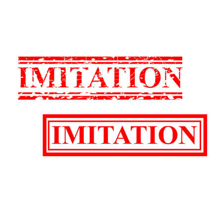 Vector Imitation, 2 style streak red rubber stamp
