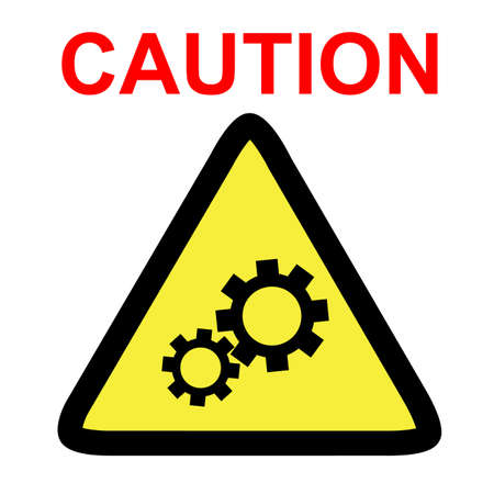 Vector sign, Caution danger of working engine