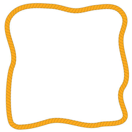 Vector, Abstract Shape Frame from Brown Rope, at White Background