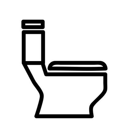 Vector, Outline Icon Stye of closet, public restroom, at white background  Stock Photo