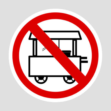 Vector sign, Do Not Selling with Cart at this area, at gray background  Фото со стока - 130565080