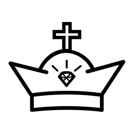 Vector Icon Outline Style, Crown for part Of logo or other related  Stock fotó