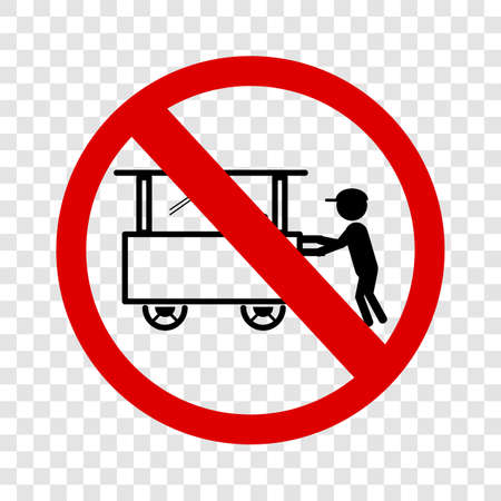 Vector sign, Do Not Selling with Cart at this area, at transparent background  Фото со стока