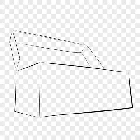 Hand Draw Sketch Template Vector Black Shoe Box, at Transparent Effect Background  Imagens