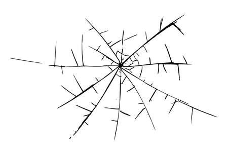 Vector hand draw sketch broken glass