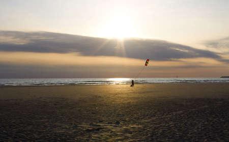 Kite at sunset photo