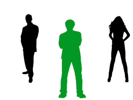 Selection in row of people Stock Vector - 7528356