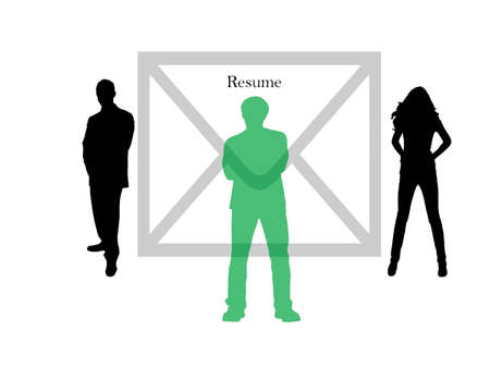 Selection in row of people Stock Vector - 7587290