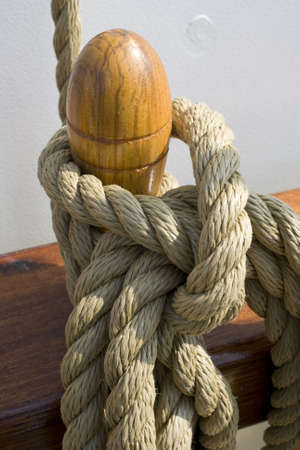 Rope on ship with large knot