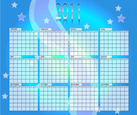 Blue calender of year 2011 Vector