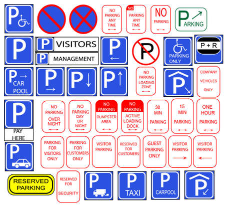 cars parking: Only parking signs isloted in english