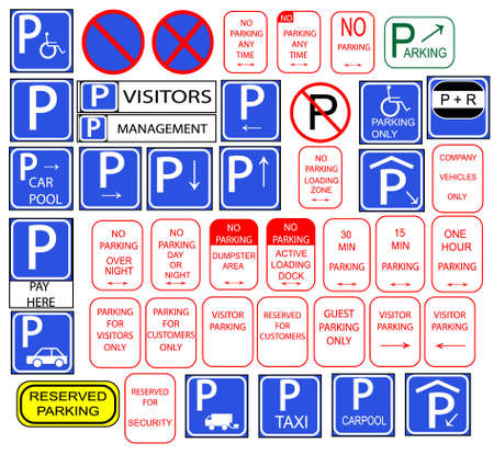 Only parking signs isloted in english photo