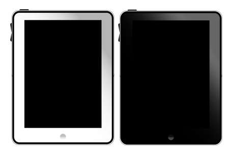 Tablet pc white and black