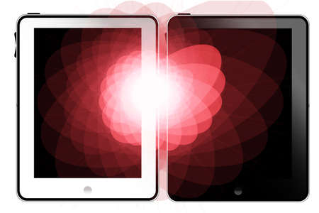 Tablet pc white and black Stock Photo - 8591985