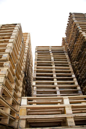 Huge piles of wooden pallets  photo