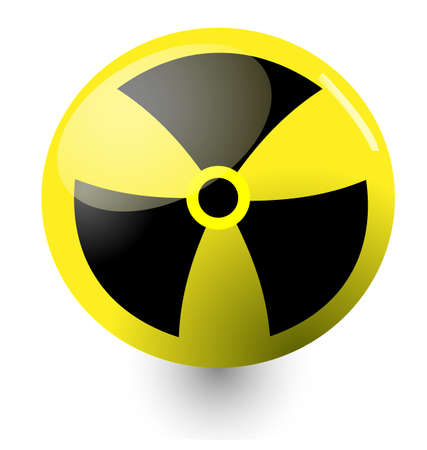 round shiny nuclear sign
